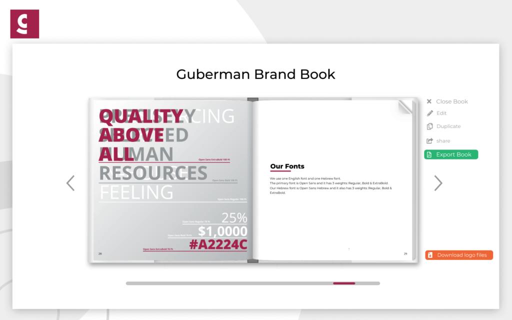 brand book layout