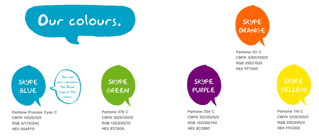 Skype colors