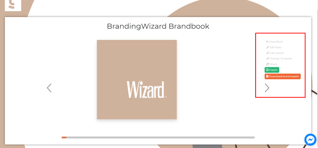 Edit your brand book