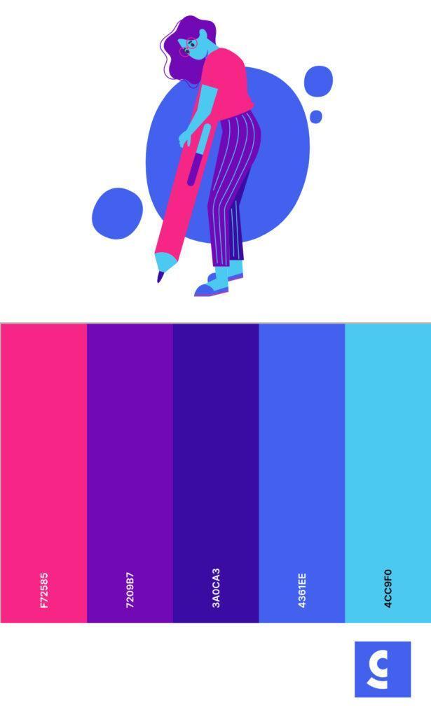 Cold color palette