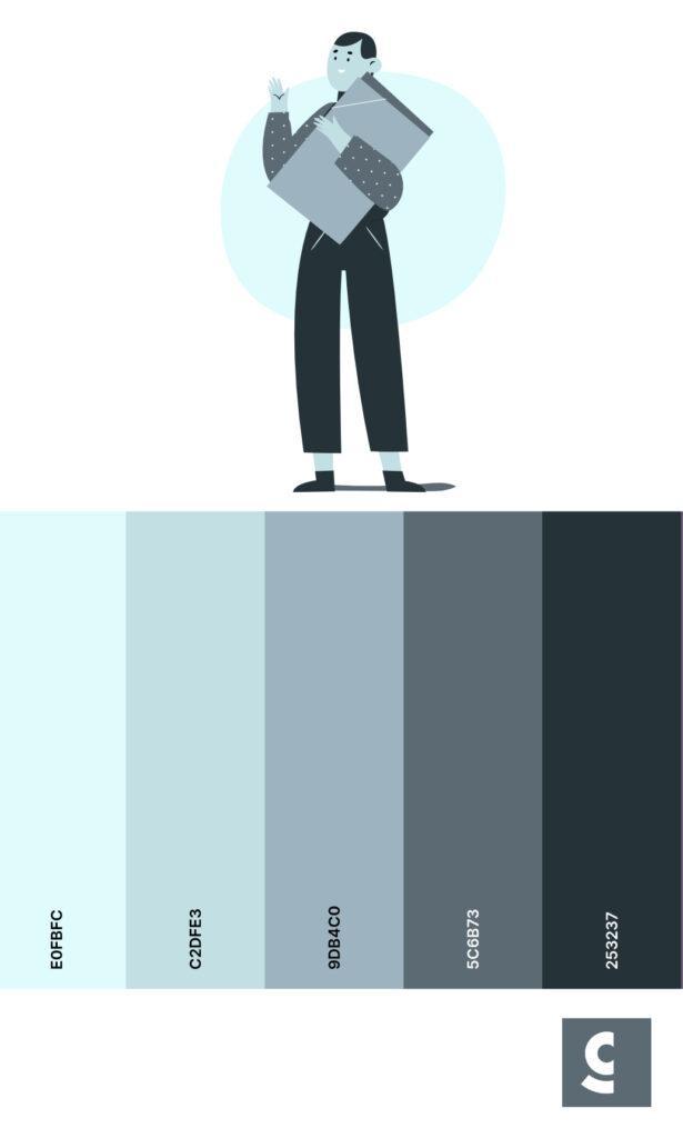 Monochrome Color Palette