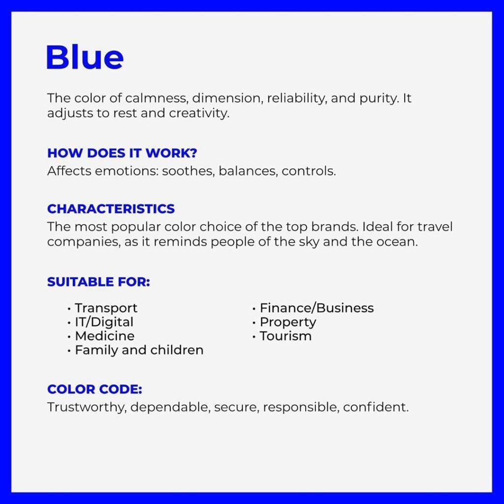 branding color blue