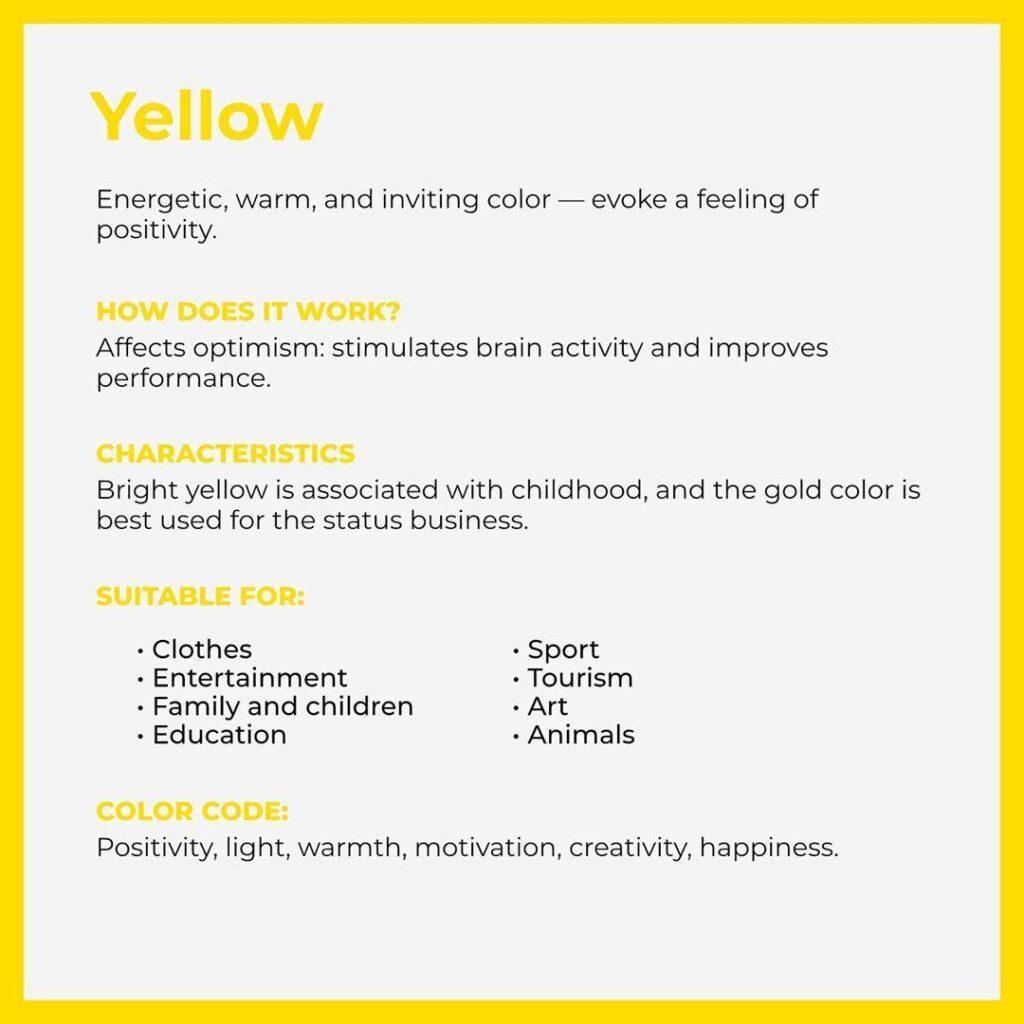 branding color yellow