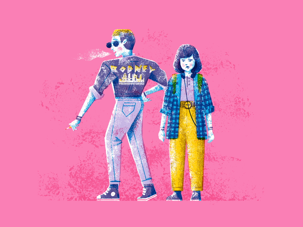 people illustration 90s style
