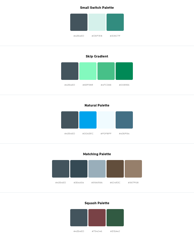 matching color palette