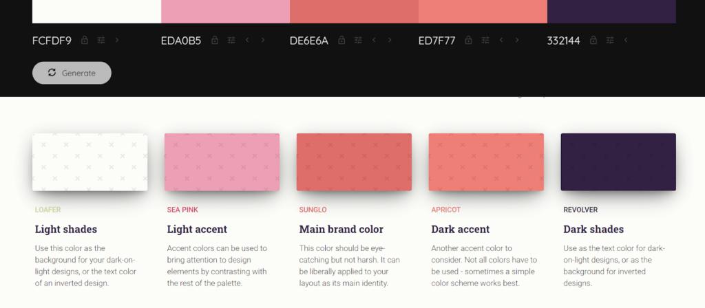 brand colors generate