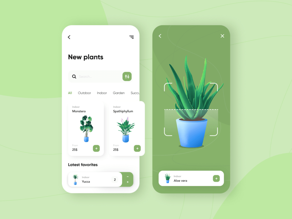 augmented reality plants app