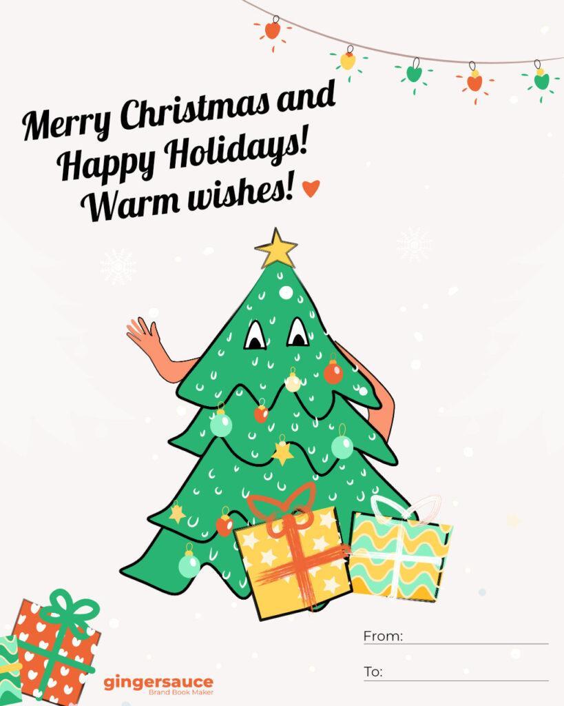 クリスマスカードアイデア
