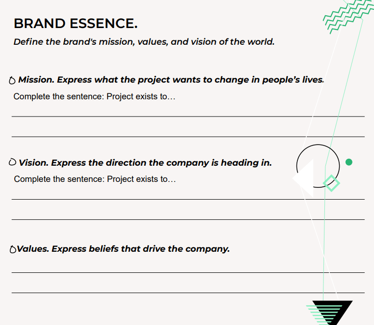 brand essence how to write mission statement